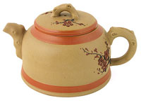 Plum Blossom Beige Yixing Teapot