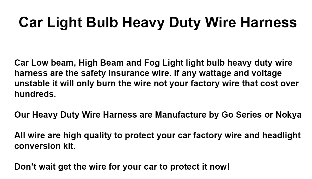 H13 9008 Plug N Play Headlight Fog Light Bulb Heavy Duty Wire The Factory Wiring Or Po Of Our Headlights Before Optionstage4u Harness Socket