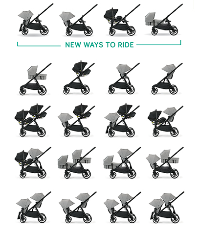 Baby Jogger City Select Lux Slate Free Shipping