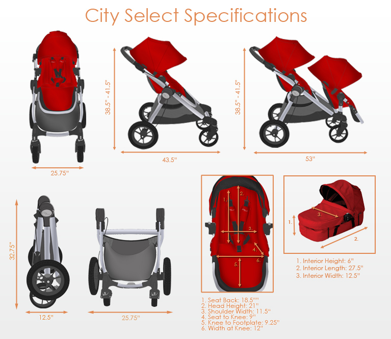 Baby Jogger City Select 2019 Strollers In Stock Free Shipping