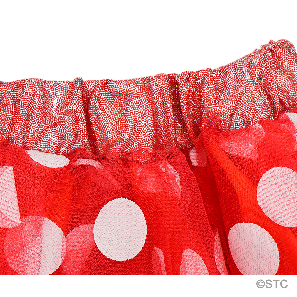 Red & White Polka Dot Tulle Tutu Skirt