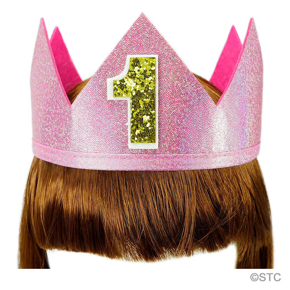 Pink Sparkle Number 1 Crown