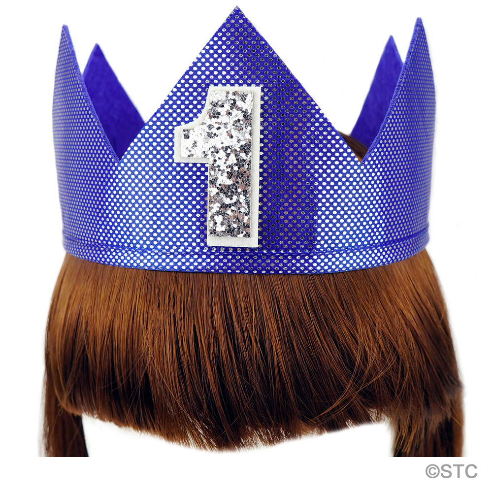 Blue Shiny Number 1 Crown