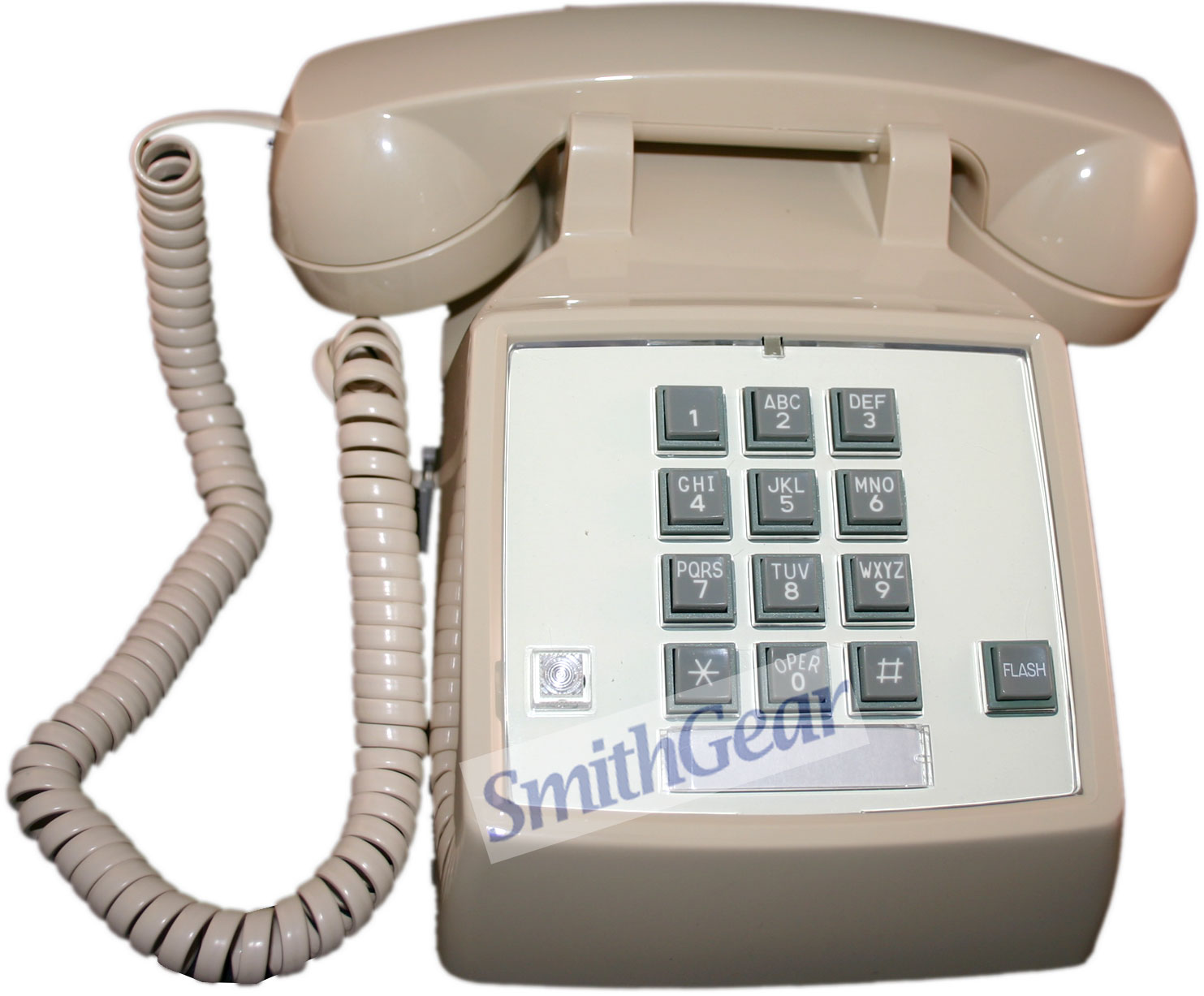 Cortelco 2500 Corded Desk Phone W Flash Ringer Light