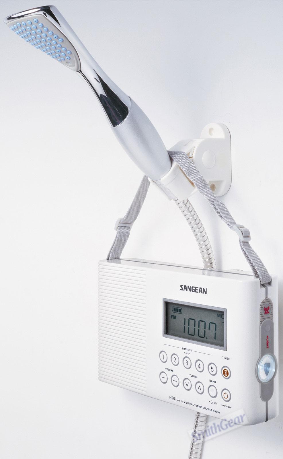 Sangean H201 Shower Radio Boating Waterproof Portable Am Fm