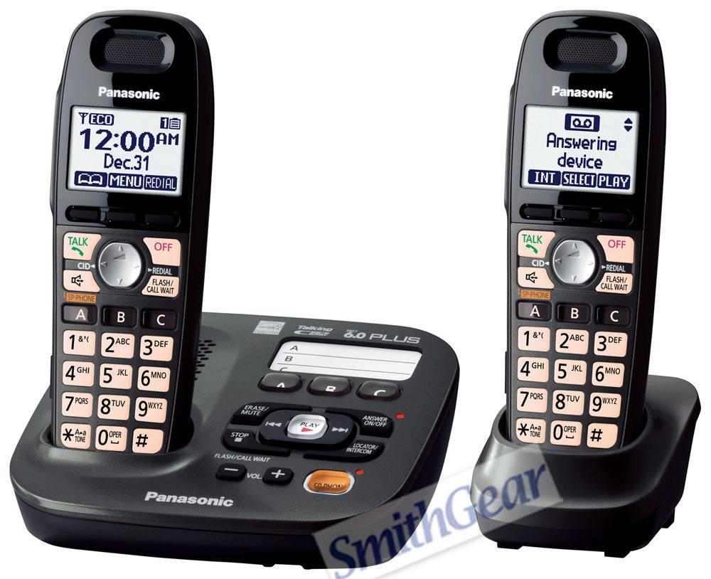 panasonic kx tg6592t dect 6 0 cordless answering system with 2 handsets rh smithgear com Panasonic 6.0 Cordless Phone Manual Panasonic Kx 390 B Manual