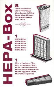 HEPA Service Box- 8 Bags+1 HEPA+1Exhasust Filter