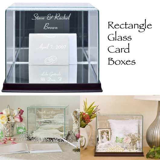 Rectangle Glass Wedding Card Box