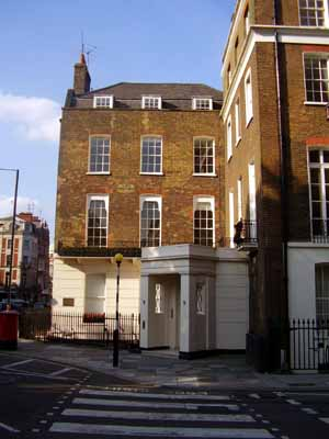 John Adams' residence at Grosvenor Square, in London