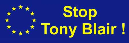 Stop Tony Blair sticker