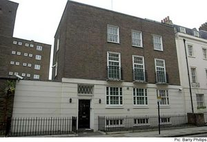 click for larger image of  62 South Eaton Place - picture credit Associated Press  / Barry Phillips