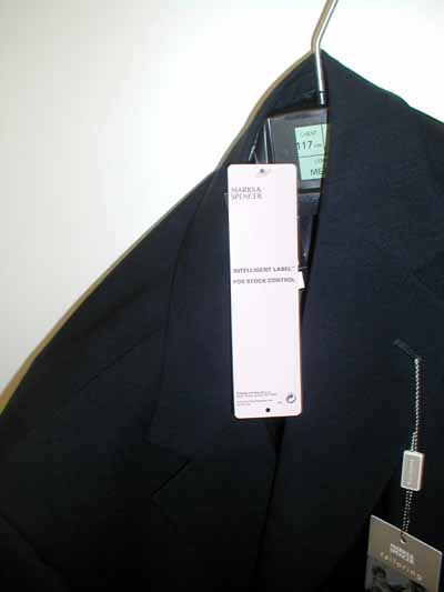 Overview of jacket with label