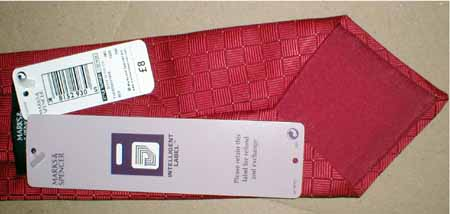 Marks & Spencer RFID tag printed side