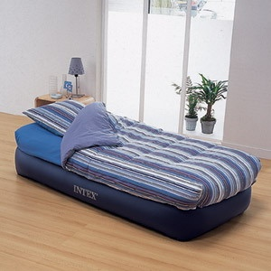 Intex Single Twin Size Raised Inflatable Air Bed Mattress