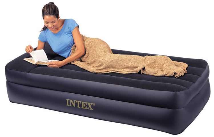 twin size raised inflatable air bed