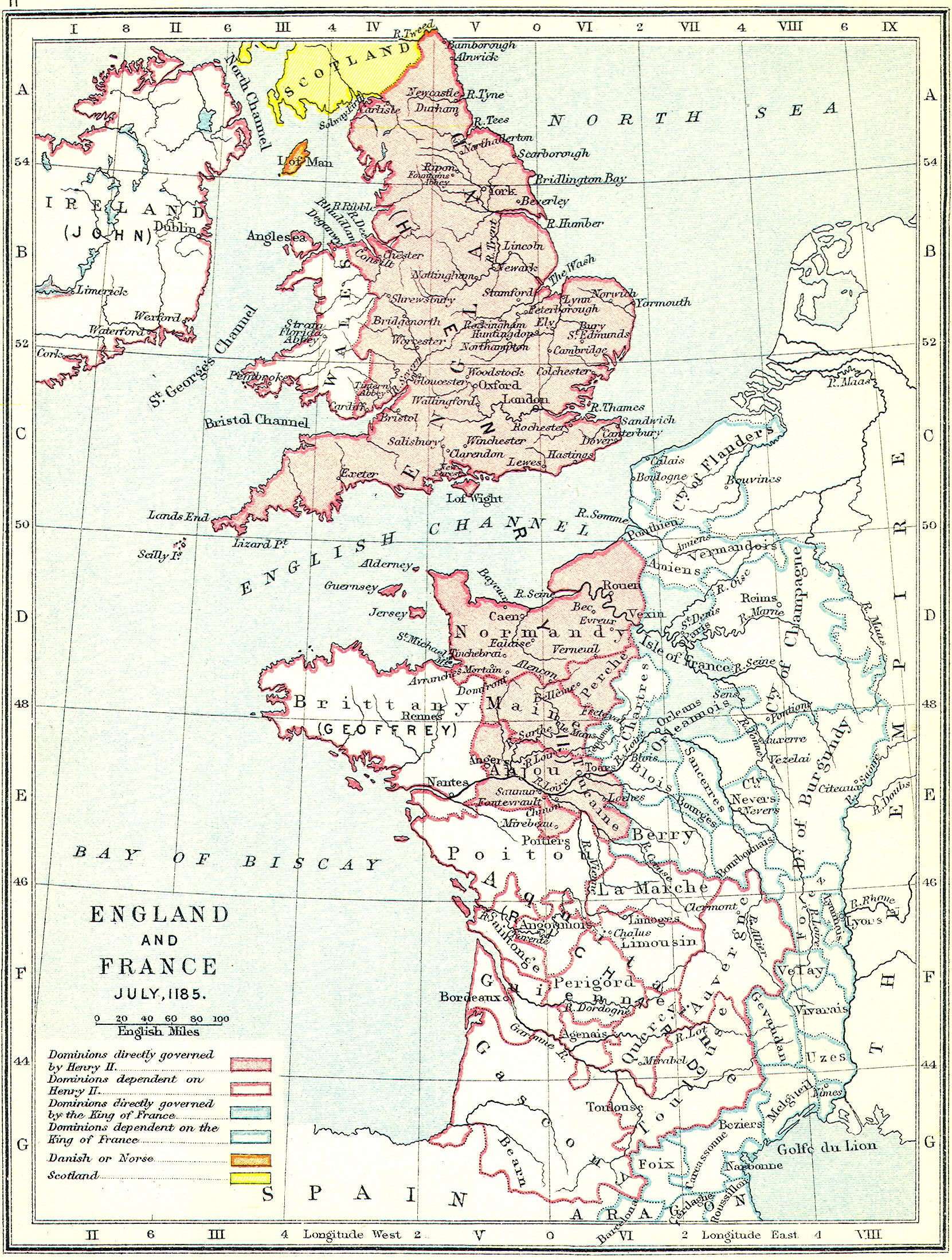 Map Of England Henry Viii.British Middle Ages Classical Curriculum Heritage History Revision 2