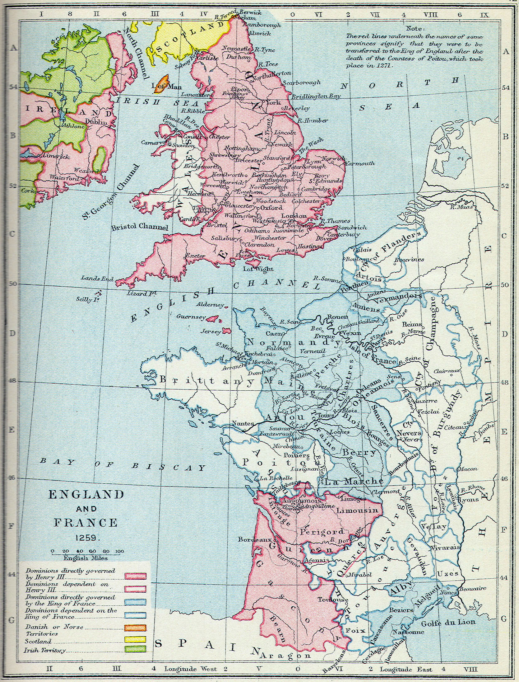 Map Of England To France.British Middle Ages Classical Curriculum Heritage History Revision 2